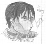 Roy Mustang и Olivier Armstrong. Фан-арт